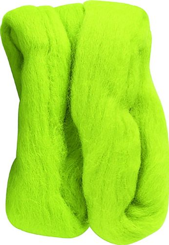 Clover 20 g 100 Percent Natural Wool Roving, Lime Green
